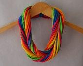 T shirt scarf in Bright Rainbow