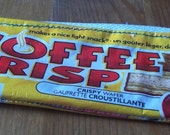 UPCYCLED Coffee Crisp candy bar wrapper RECYCLED into coin purse