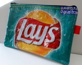 Pencil Case - UPCYCLED from Lays potato chip wrapper RePurposed into a - SWEET usable pencil case