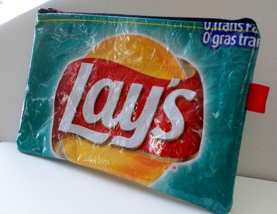 Pencil Case Upcycled From Lays Potato Chip Wrapper By