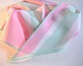 Peppermint Racing Stripes Vintage Vera Wingtips Scarf