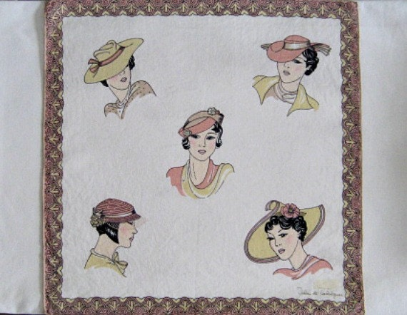 Sweet Little Fashion Plates Small Scarf or Hankie