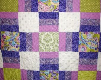 Purple, Green, White Snuggles