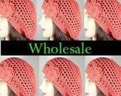 Wholesale Hats for Women, Organic Cotton Beret Hats, Lot of 6, CHOOSE YOUR COLORS