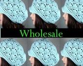 Wholesale Hats, Organic Cotton Newsboy Hats, Crochet Shells, Lot of 6, CHOOSE YOUR COLORS