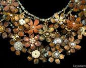 BEYOND Decadence Necklace.  Another Botanical Garden of Rich Mixed Metals.  Tangled, Organic Stack Attack. Kay Adams.