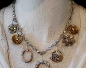 Precious Little Lovelies Necklace.  Altered and Upcycled Vintage Goodness.  Kay Adams.