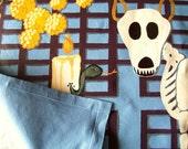 El Dia de los Muertos or Day of the Dead beloved dog memorial floorcloth / rug