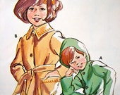 Kwik Sew pattern 642 - childrens coat - knit woven or fleece - ages 2 4 6 - sewing supply - dressmaker  tool