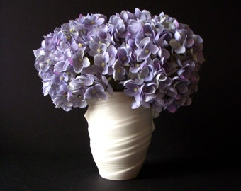 Rare Vintage White Porcelain 1950s Vase by SylvaC - MCM British Pottery - New Old Stock w/ Original Label - Vintage Porcelain Flower Vase