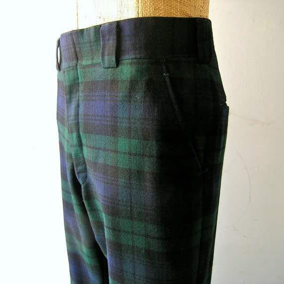 Preppy Brooks Brothers Black Watch tartan mens by CoolVintageFinds