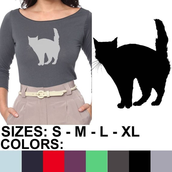 Kitty cat american apparel sheer jersey 3 4 by elementalshop for American apparel mesh shirt