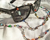 Mardi Gras - Eyeglass Necklace - Multi Rainbow