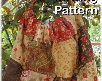 Belle Patchwork Purse Bag PDF SEWING PATTERN