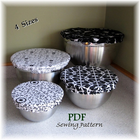 Round Bowl Covers Sleeve Pdf Sewing Pattern 4 Sizes By Emmamae