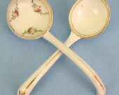 Antique Japanese Porcelain Spoons - For serving Condiments and Sugar