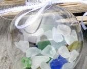 SEA GLASS CHRISTMAS Ornament, beach decor, beach glass, nautical Christmas ornament
