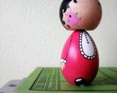 handmade kokeshi doll ... ( wooden ) Petunia