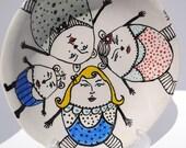 ceramic plate goldilocks and the three bears illustrated dish charming