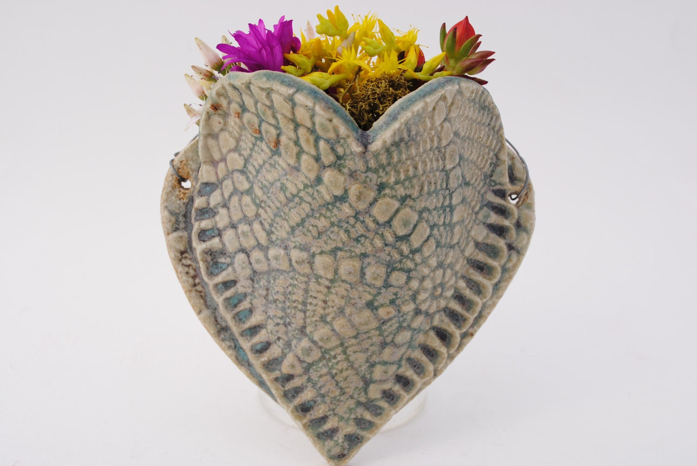 Ceramic Wall Pocket Flower Herb Plant Holder Tiny Wall Vase