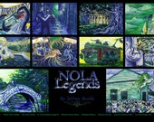 Nola Legends Poster New Orleans myths magic fairies trolls monsters Signed