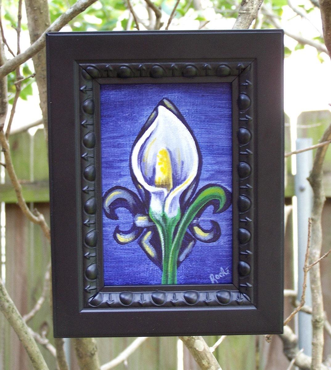Fleur De Lily Fleur De Lis Fine Art 4 X 6 Framed By Ubatuber