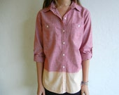 Ombre Red Chambray Shirt