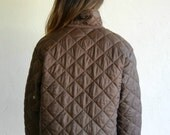 Vintage United Colors of Benetton Brown Quilted Jacket