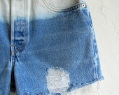 Ombré Medium Wash Levi's Denim Shorts