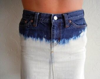 Dip Dyed Mid-Length Skirt