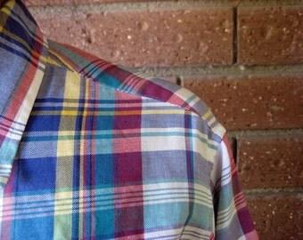 Multicolored Plaid Shirt