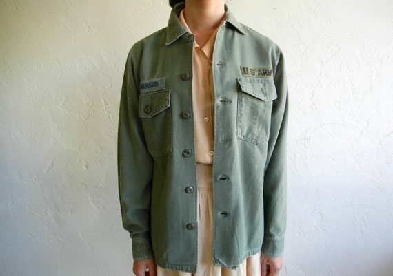 "Vintage Green ""Hansen"" Military Army Jacket"