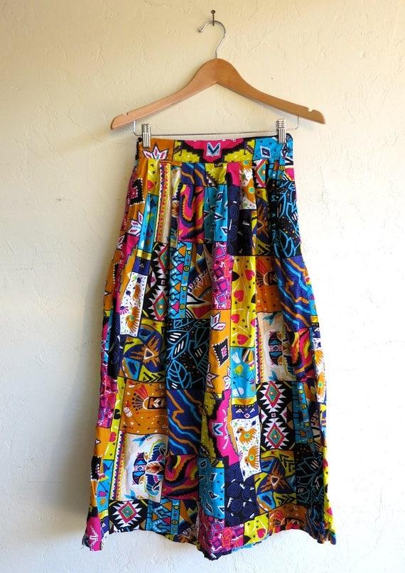 aztec colorful maxi skirt