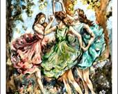 Three Graces Carrie Joy Art Fine Art Print 11 x 14