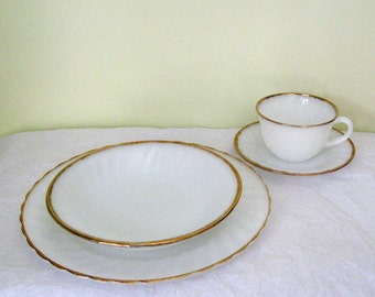 Vintage Fire King Dinnerware - Golden Anniversary