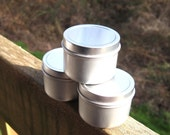 S A L E  Premium Eco Friendly All Natural Soy Candle 2 oz Sample Tin - Choose your scent - Listing for One