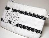 The Peace, White Lolita Black-Laced Zipper Pouch B00002A