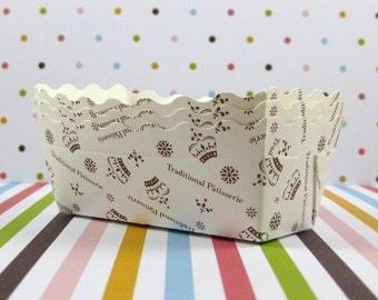 Mini Crown White Paper Loaf Pan
