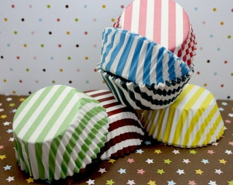 Assorted Stripe Standard Cupcake Liners