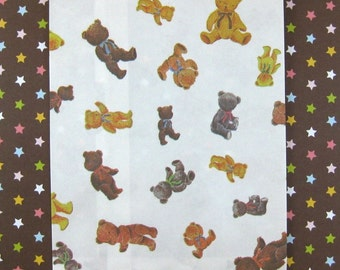 25 Teddy Bear Paper Bags