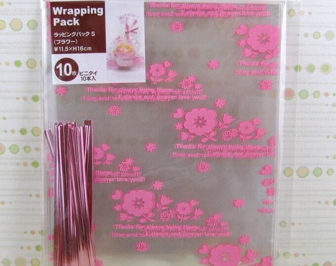Sweet Pink Flowers Gift Bags