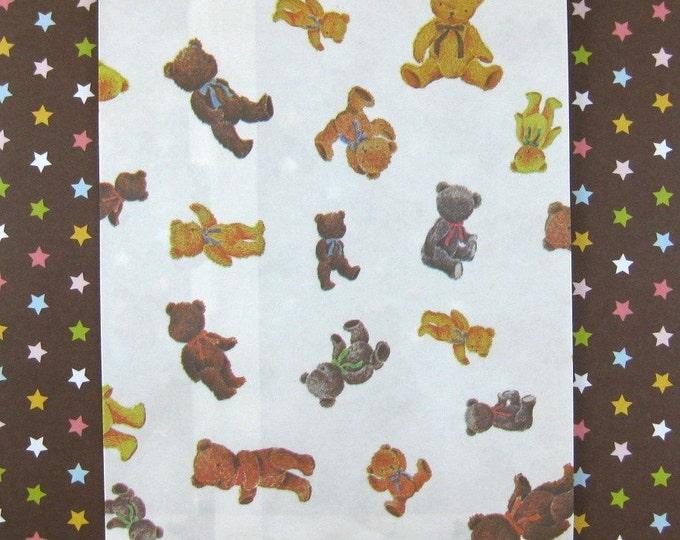 25 Teddy Bear Paper Bags