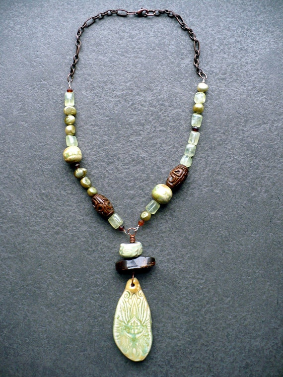 HARMONY-ceramic and gemstone necklace