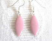 LIght Pink Marquis Pierced or Clip On Earrings