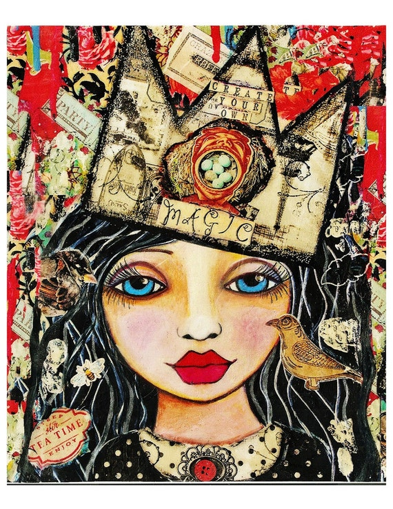 Create Your Own Magic Painting Fine Art Print Mixed Media
