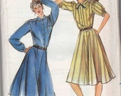 Darling 80s Dress with Peter Pan Collar Pattern, Butterick size 16, bust 38