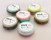 mt Washi Masking Tape - 6mm Slim - Set 3 (15m rolls)