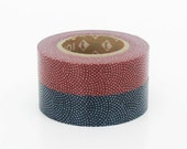 mt Washi Masking Tape - Red & Blue Dots - Set 2 (15m rolls)