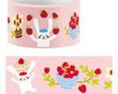 SALE - Funtape Masking Tape - Juggling Rabbit - 25mm Wide - 25% off