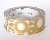mt Washi Masking Tape - Gold Circles - Limited Edition